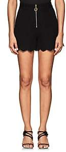 Derek Lam 10 Crosby Women's Eyelet-Detailed Cotton-Blend High-Waist Shorts - Black