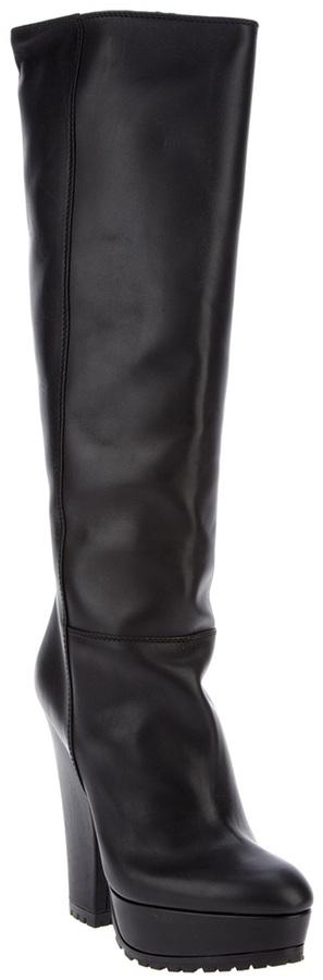 Sebastian Milano chunky heel knee high boot