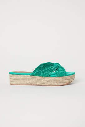 H&M Platform Sandals - Green