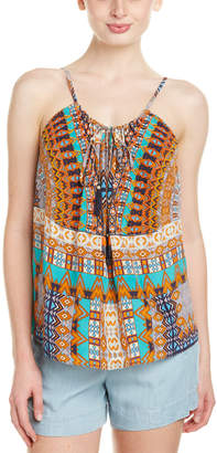 Rococo Sand The Master Print Beaded Silk Top