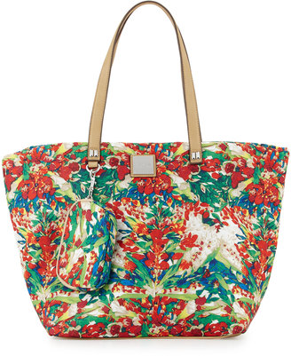 Nicole Miller City Life Quilted Tote Bag $63 thestylecure.com