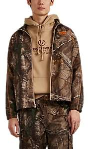 Wu Wear Men's Logo Camouflage Track Jacket - Orange