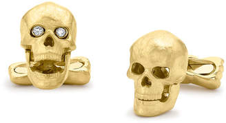 Deakin & Francis Yellow-Gold Skull Cuff Links