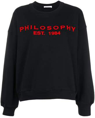 Philosophy di Lorenzo Serafini drop shoulder logo sweatshirt