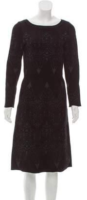 Alaia Long Sleeve Matelassé Dress