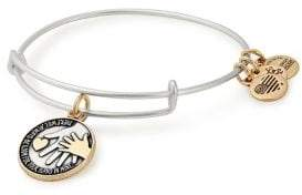 Alex and Ani Hand in Hand Two-Tone Charm Bangle Bracelet