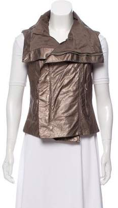 Rick Owens Metallic Leather Vest