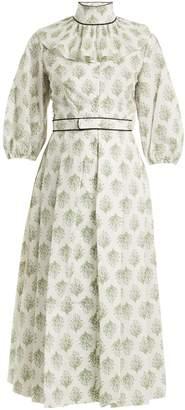 Emilia Wickstead Hilary floral-print balloon-sleeved cotton dress