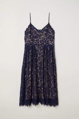 H&M H&M+ Lace Dress - Blue
