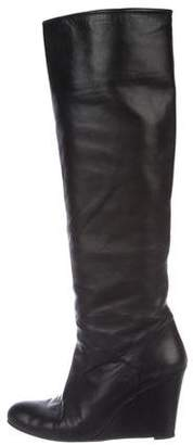 Stuart Weitzman Leather Knee-Length Boots