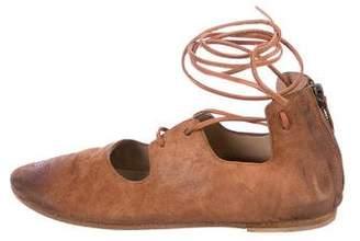 Marsèll Suede Lace-Up Sandals