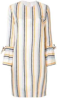 Victoria Beckham Victoria zig zag striped shift dress