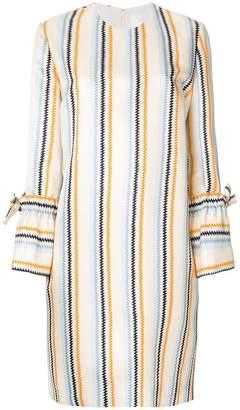 Victoria Beckham Victoria zig zag striped shift dress