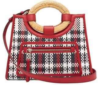 Fendi Runaway Woven Leather Plaid Bag - Womens - Red Multi