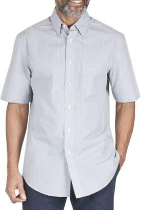 Haggar Regular-Fit Mini Check Short-Sleeve Button-Down Shirt