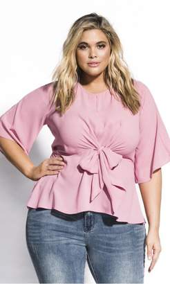 City Chic Nora Top - rose