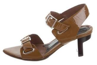 Marni Multistrap Patent Leather Sandals