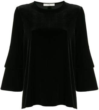 Tibi velvet bell sleeve top