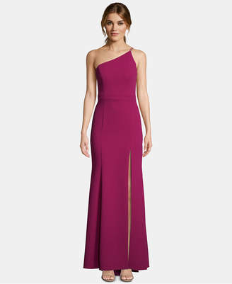Xscape Evenings One-Shoulder Crepe Gown