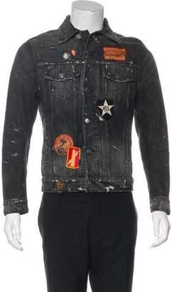 Amiri Distressed Patch-Appliqué Denim Jacket