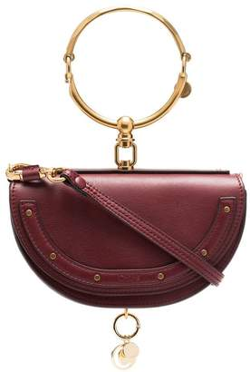Chloé dark red Nile Minaudiere leather bag