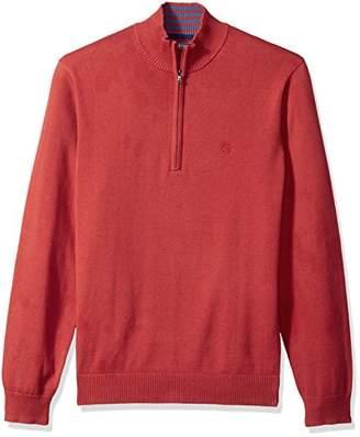 Izod Men's Fine Gauge Solid 1/4 Zip Sweater