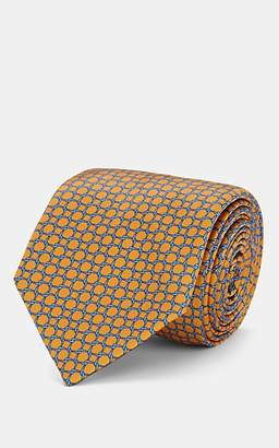 Barneys New York Men's Chain-Pattern Silk Necktie - Yellow