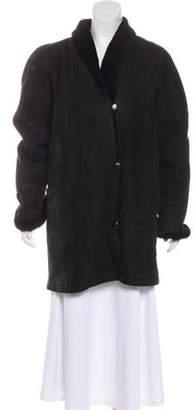 Oscar de la Renta Vintage Suede Coat