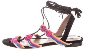 Tabitha Simmons Multistrap Lace-Up Sandals