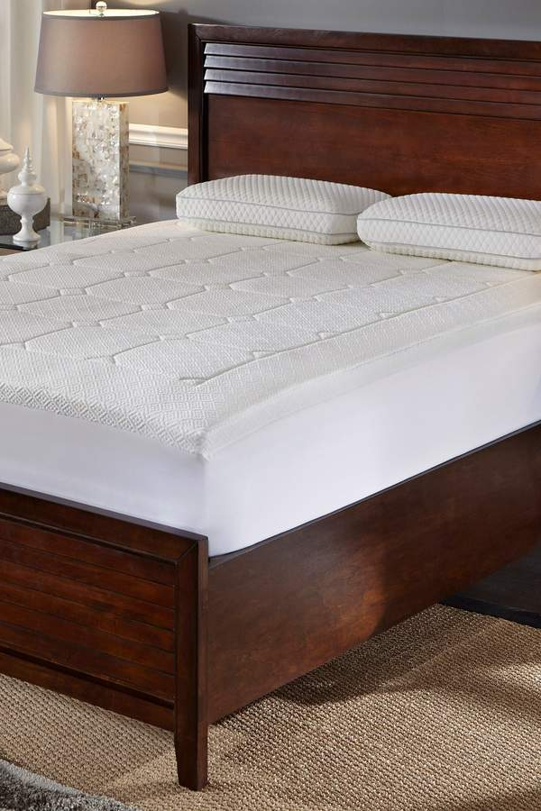 Rio Home Euro Top Quilted Memory Foam Mattress Topper