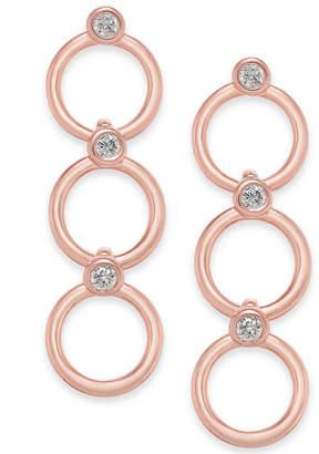 Kate Spade 14k Gold-Plated Crystal & Circle Triple Drop Earrings