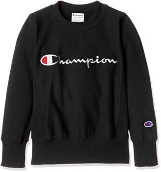 Champion (チャンピオン) - [チャンピオン] リバースウィーブ スウェットシャツ CS4740 ボーイズ ブラック 日本 100 (日本サイズ100 相当)