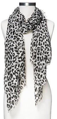 Merona Women's Woven Leopard Print Oblong Scarf - Black - Merona $14.99 thestylecure.com