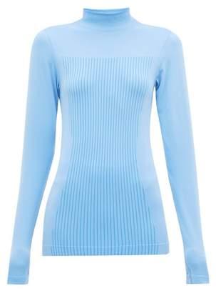 Falke High Neck Stretch Jersey Performance Top - Womens - Light Blue
