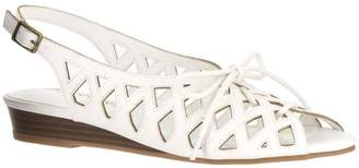 Easy Street Shoes Lace-up Wedge Sandals - Tinker