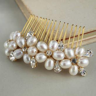 Jewellery Made By Me Dew Pearl Wedding Hair Comb