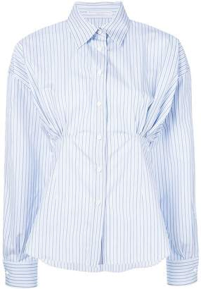Ermanno Scervino striped gathered shirt