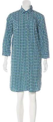 Max Mara Patterned Knee-Length Dress