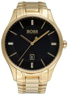 BOSS Hugo Govenor Casual Sport, Gold-Tone Steel Watch 1513521 One Size Assorted-Pre-Pack