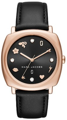Women's Marc Jacobs Mandy Leather Strap Watch, 34Mm $225 thestylecure.com