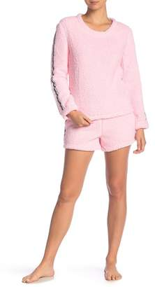 Couture PJ Sporty Faux Shearling Short Set