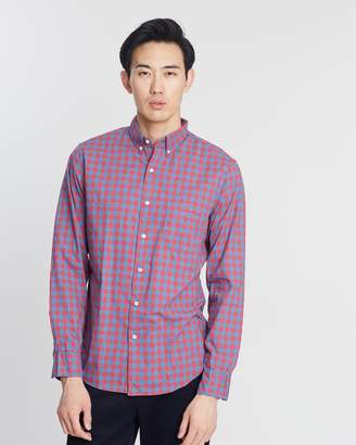 J.Crew Stretch Secret Wash Gingham Shirt
