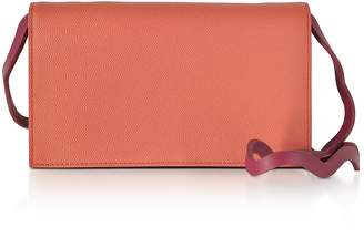 Roksanda Orchid Leather Wallet w/Wave Shoulder Strap