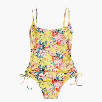 J.Crew Ruched side one-piece swimsuit in Liberty® magical bouquet