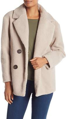French Connection Short Teddy Faux Fur Jacket