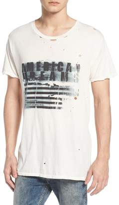 Victoria's Secret The People American Dreams Distressed Graphic T-Shirt