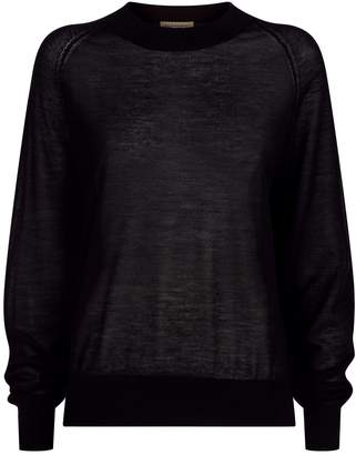 Burberry Open-Stitch Cashmere Sweater