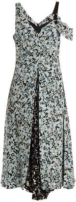 Proenza Schouler Abstract-print silk crepe de Chine dress