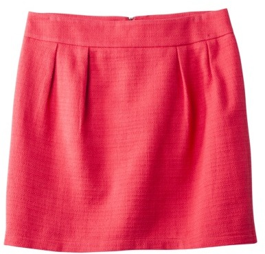 Mossimo Petites Straight Tweed Skirt - Red