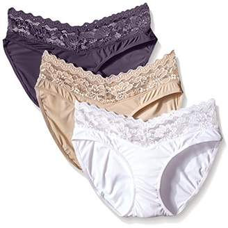 Ahh By Rhonda Shear Women's Sweet Cupcake Butterknit Lace Trim Panty (Pack of 3)